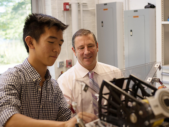 "John Coiro '87: ""Robotics and the Digital Fabrication Lab are a perfect explanation of what Peddie is about."""