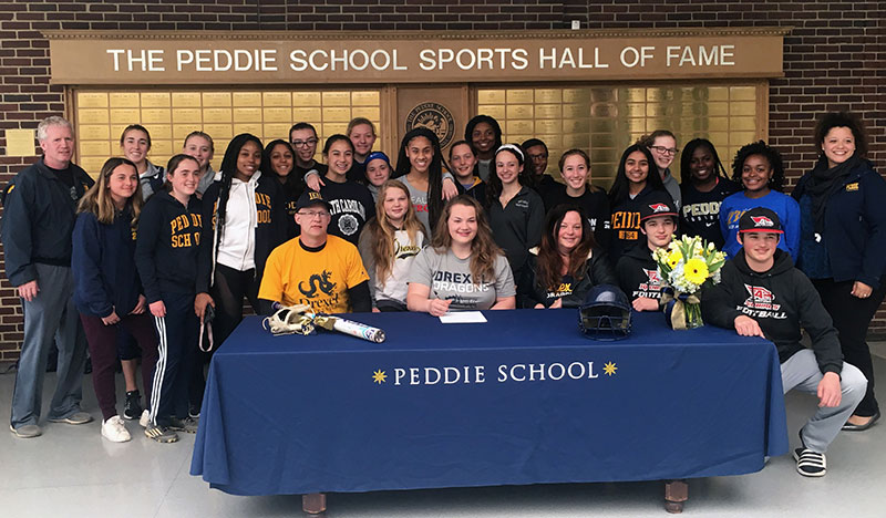Peddie trio make college commitments official