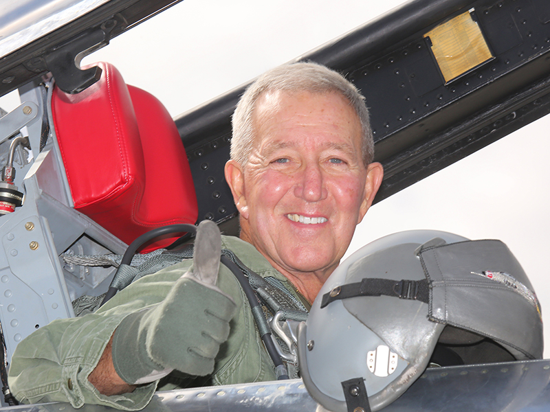 "Still flying high: Retired Lieutenant Colonel Robert ""Hoppy"" Hopkins '57"
